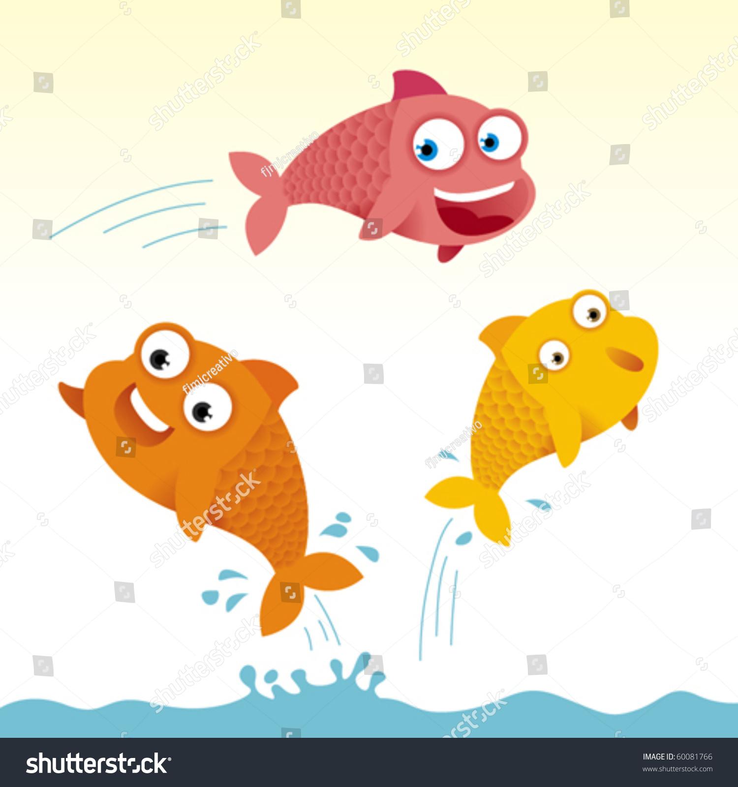 1500x1600 Leaping Fish Cartoon