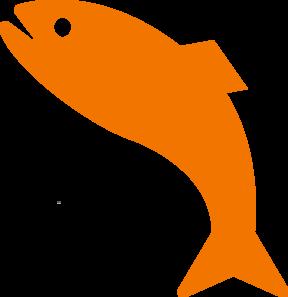 288x297 Orange Jumping Fish Clip Art
