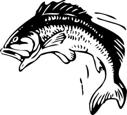 425x386 Vector Jumping Fish Vector Clip Art