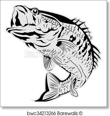 362x382 Art Print Of Jumping Fish Vector Barewalls Posters Amp Prints