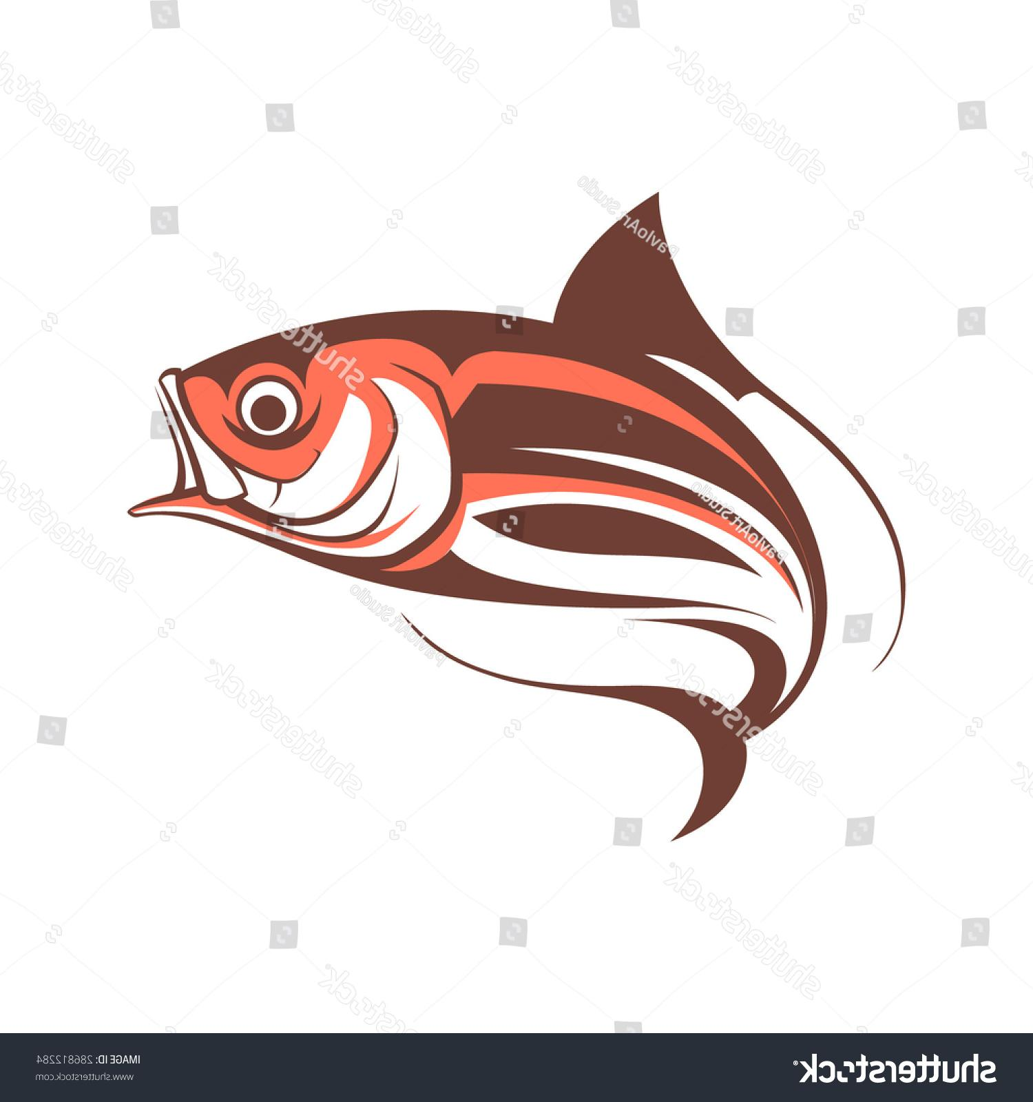 1500x1600 Best Stock Vector Jumping Fish Logo Template Illustration Image
