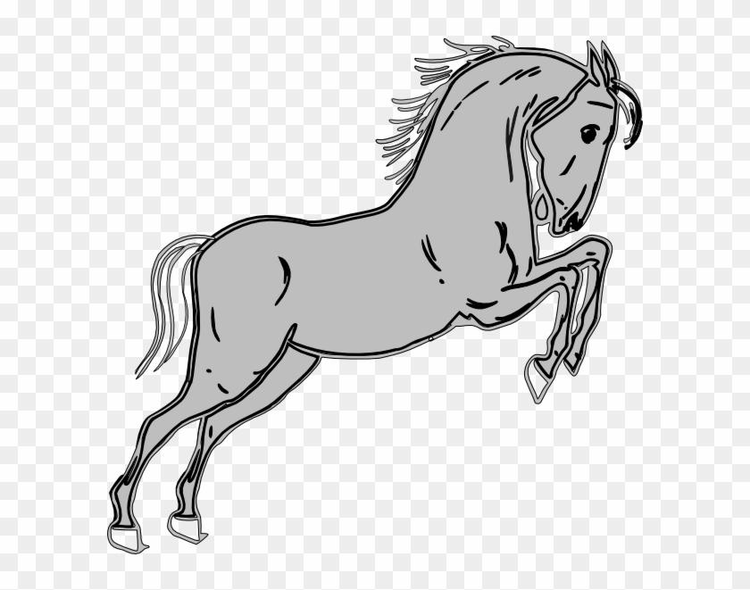 840x661 Grey Jumping Horse Clip Art At Bclipart Com Vector