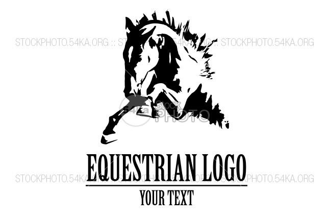 647x431 Jumping Horse Vector Illustration Logo Beautiful Equestrian