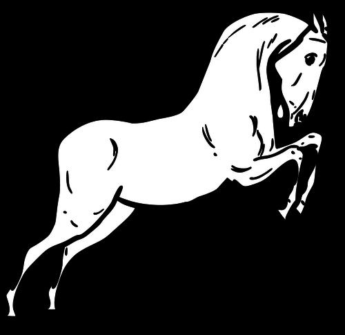 500x485 Jumping Horse Vector Image Public Domain Vectors