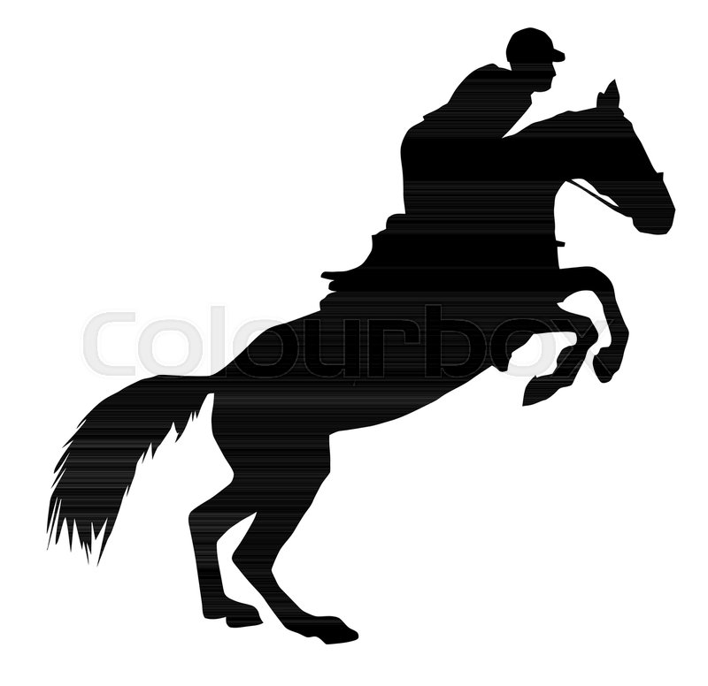 800x776 Silhouette Illustration Of A Jumping Horse Stock Vector Colourbox