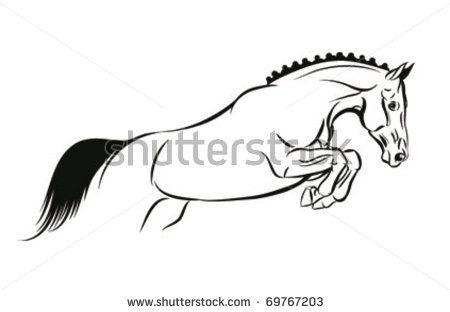 450x312 Jumping Horse Tattoo Designs Horse Jump Vector Sketch