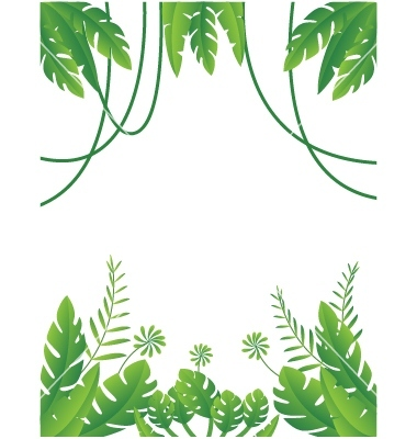 Jungle Leaves Vector at GetDrawings.com | Free for ...