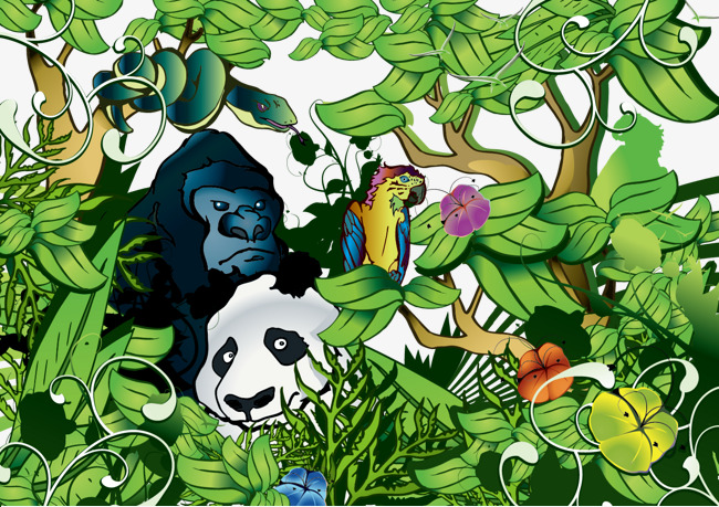 650x459 Jungle Animals, Jungle Vector, Png Download Png And Vector For