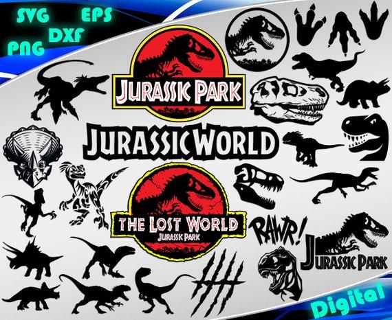 570x466 Jurassic Park Svg Jurassic Park Clipart Svg Dinosaur Svg Etsy