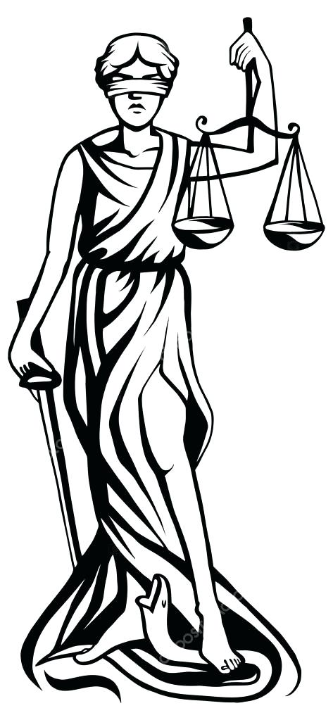 473x1023 Lady Justice Clip Art Lady Justice Vector Illustration Vector By