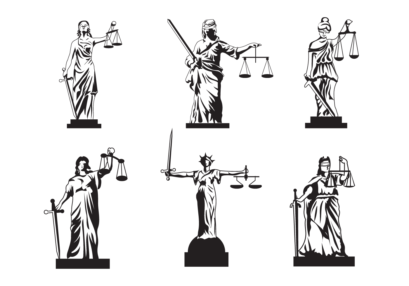 1400x980 Lady Justice Free Vector Art