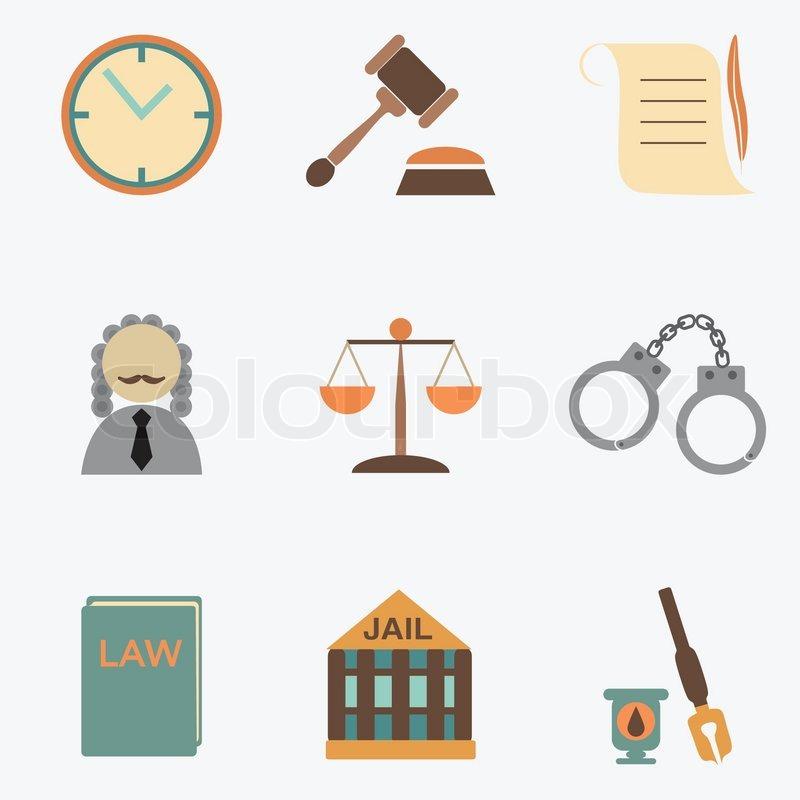 800x800 Law Judge Icon Set, Justice Sign Stock Vector Colourbox