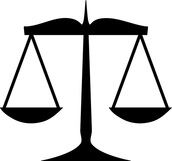 600x563 Scales Of Justice Free Vector In Open Office Drawing Svg ( .svg