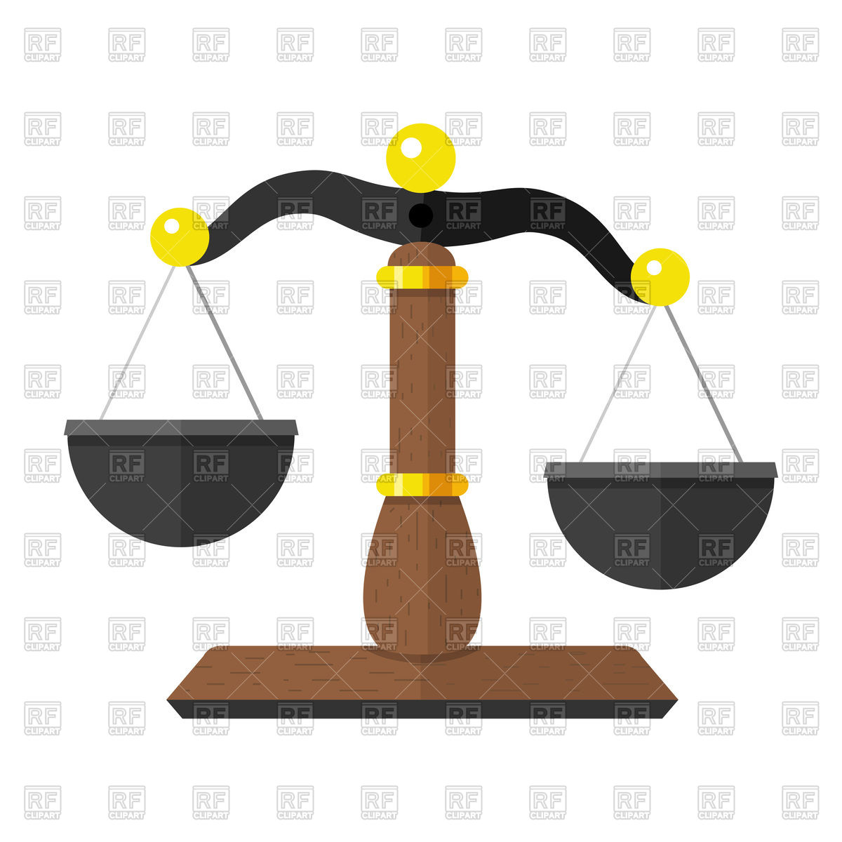 1200x1200 Scales Of Justice Vector Image Vector Artwork Of Objects