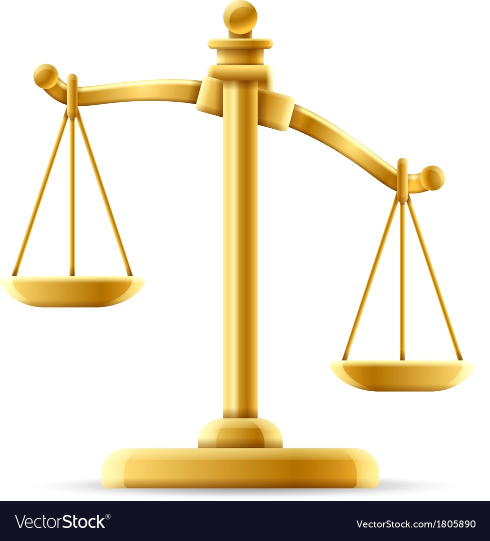 980x1080 Unbalanced Scale Of Justice Vector 1805890 16 Scales Image