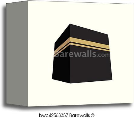 443x390 Canvas Print Of Kaaba Vector Illustration Flat Design Barewalls