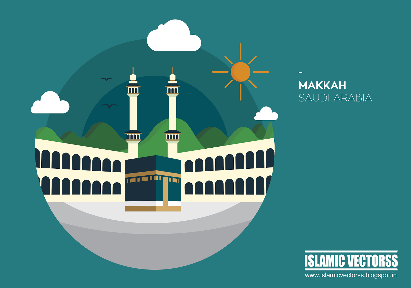 1600x1120 Islamic Vectors Hajj Kaaba Sharif Cdr Vector Free Download