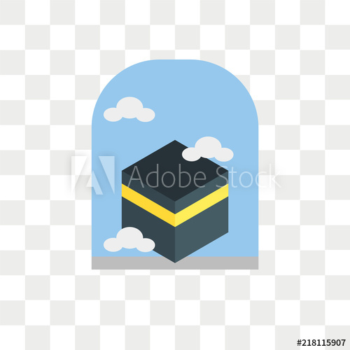 500x500 Kaaba Vector Icon Isolated On Transparent Background, Kaaba Logo