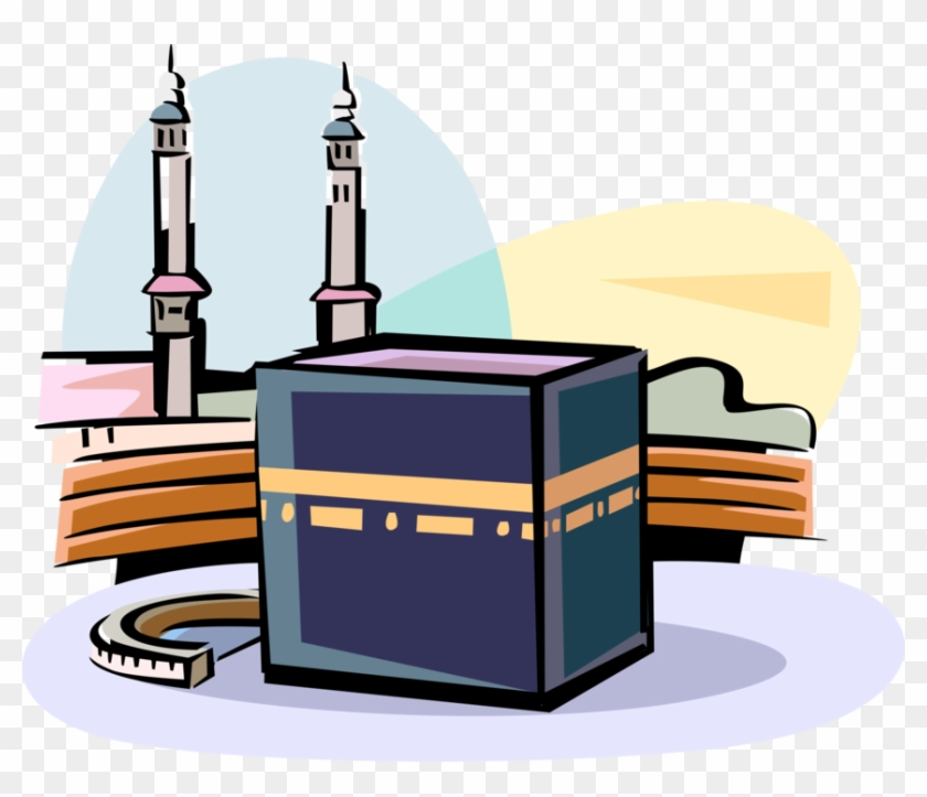 840x723 Vector Illustration Of Grand Kaaba Islam Sacred Mosque