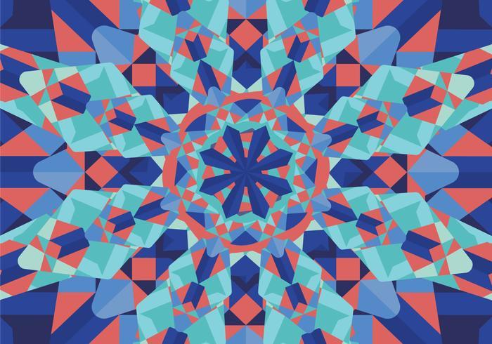 700x490 Kaleidoscope Pattern Vector