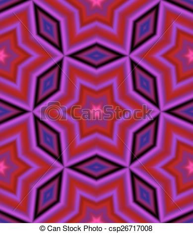 389x470 Kaleidoscope. Seamless Pattern With Abstract Motif Like A