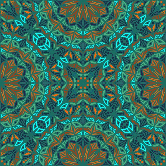 700x700 Kaleidoscope. Vector Seamless Background Wall Mural We