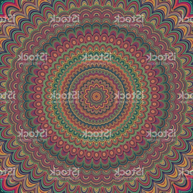 1228x1228 Abstract Bohemian Mandala Ornament Background Circular