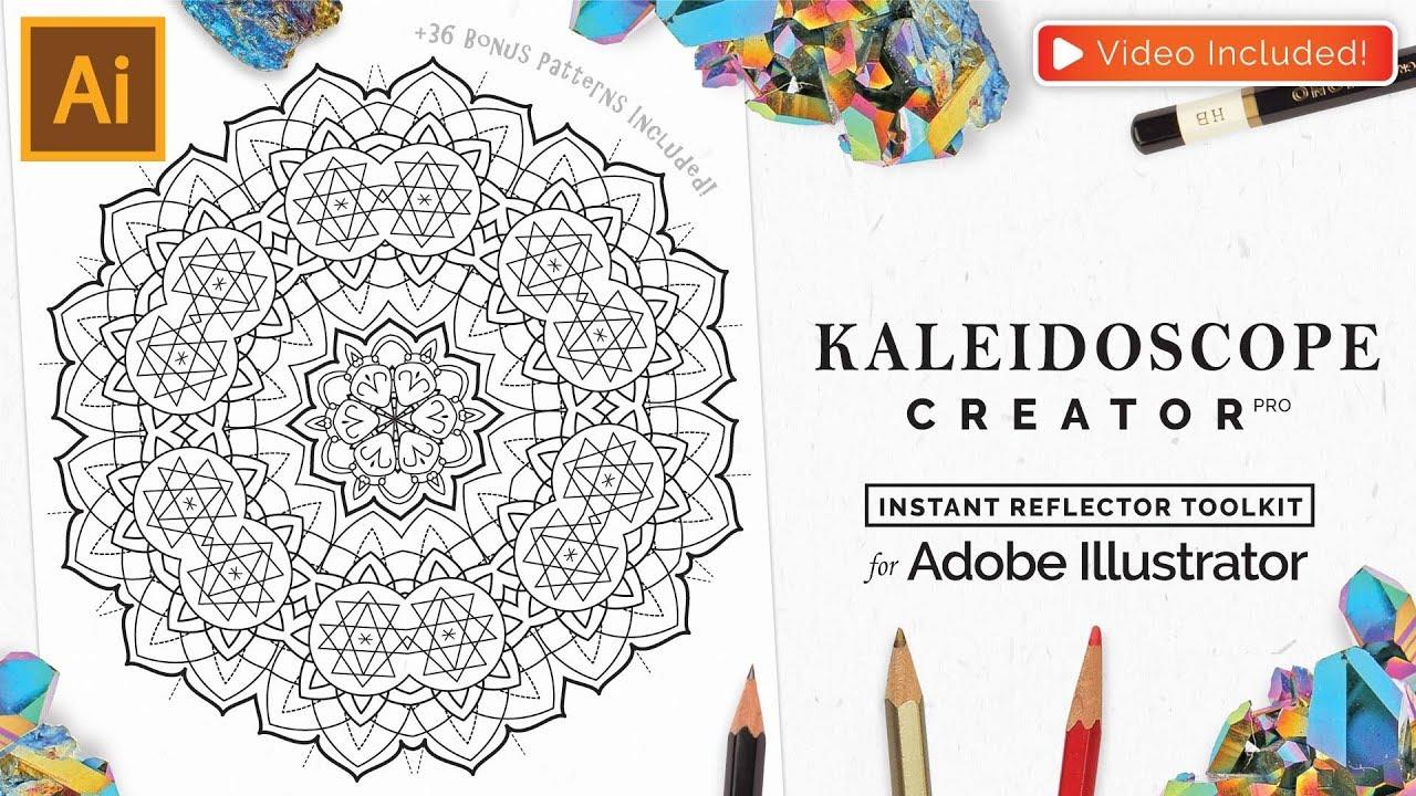 1280x720 Vector Kaleidoscope For Adobe Illustrator