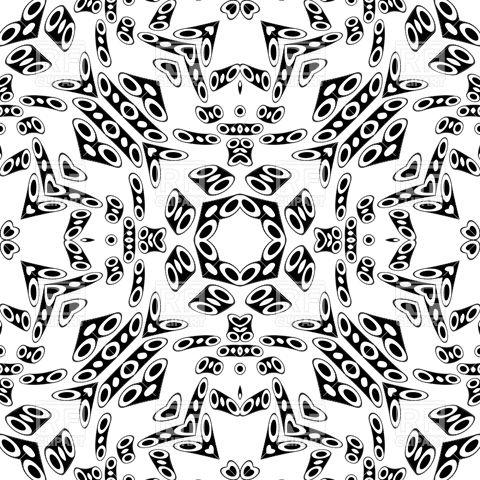 480x480 Black Kaleidoscope Pattern Vector Image Vector Artwork Of