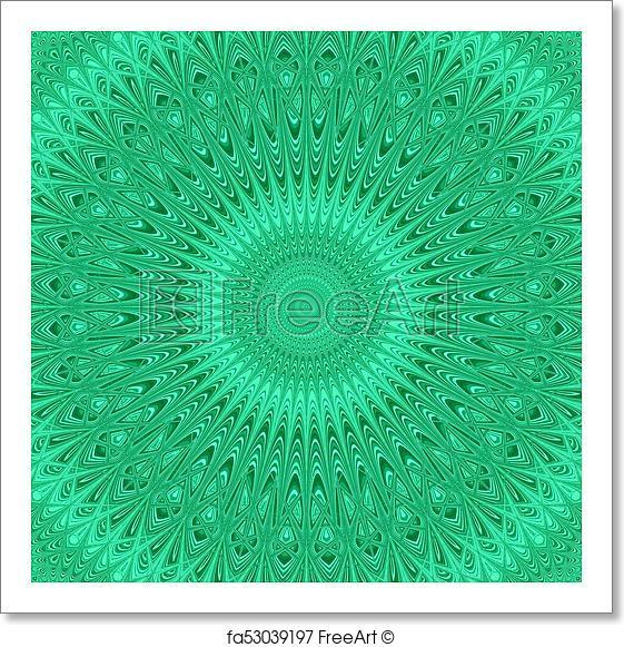 561x581 Free Art Print Of Abstract Mandala Star Fractal Ornament