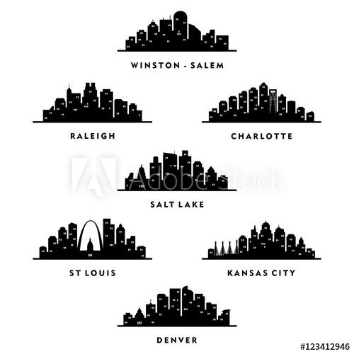 500x500 Skyline North Carolina, Utah, Missouri, Colorado City