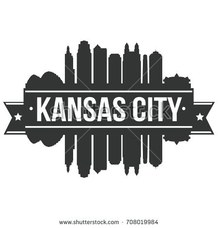 450x470 Kansas City Skyline Art City Skyline Art Blue City Skyline City