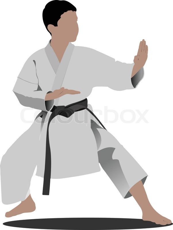 602x800 Oriental Combat Sports. Karate Stock Vector Colourbox