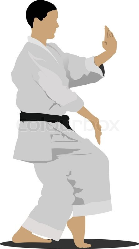 446x800 Oriental Combat Sports. Karate Stock Vector Colourbox