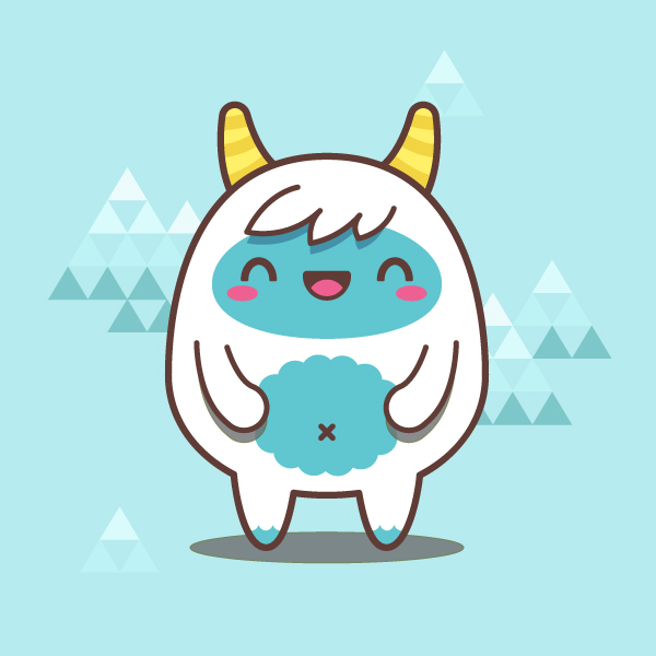 600x600 Creating A Simple Kawaii Yeti With Basic Shapes In Adobe Illustrator