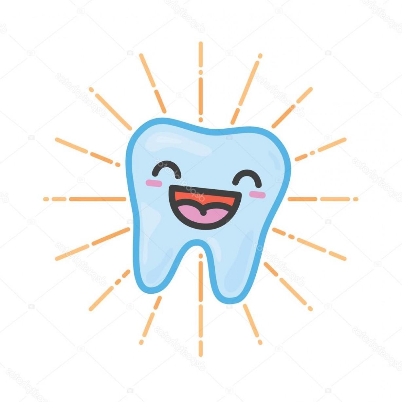 1228x1228 Stock Illustration Happy Tooth Kawaii Vector Illustration