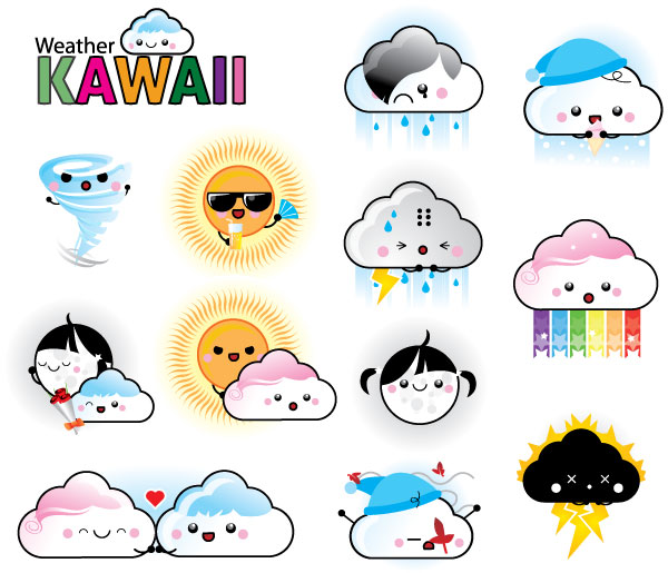 600x515 Free Download Of Free 12 Vector Weather Kawaii Vector Graphic
