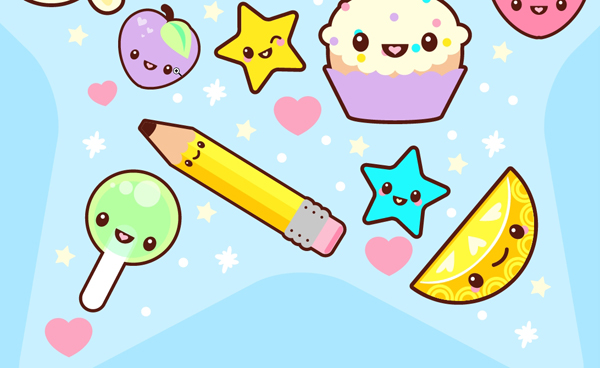 600x368 How To Create A Super Kawaii Collage In Adobe Illustrator