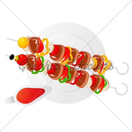 500x500 Shish Kebab Gl Stock Images