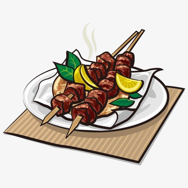 650x650 Vector Kebab, Grill, Cartoon Kebab, Vector Barbecue Png And Vector