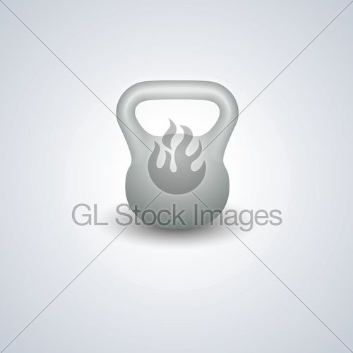 500x500 Realistic Kettlebell, Vector Illustration. Gl Stock Images