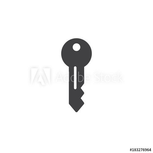 500x500 Key Icon Vector, Filled Flat Sign, Solid Pictogram Isolated On