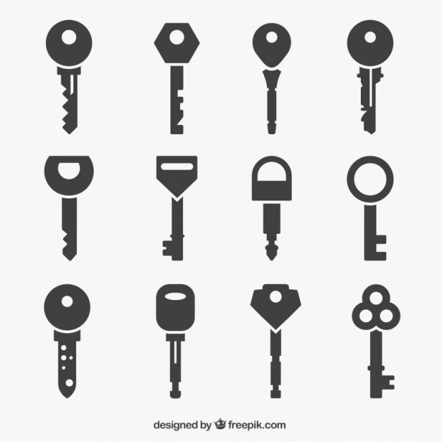 626x626 Key Icons Collection Vector Free Download