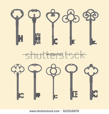 450x470 Free Skeleton Key Vector Antique Skeleton Keys Collection Vector
