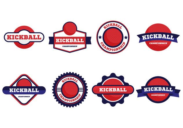 632x443 Free Kickball Vector Badges Collection Free Vector Download 407573