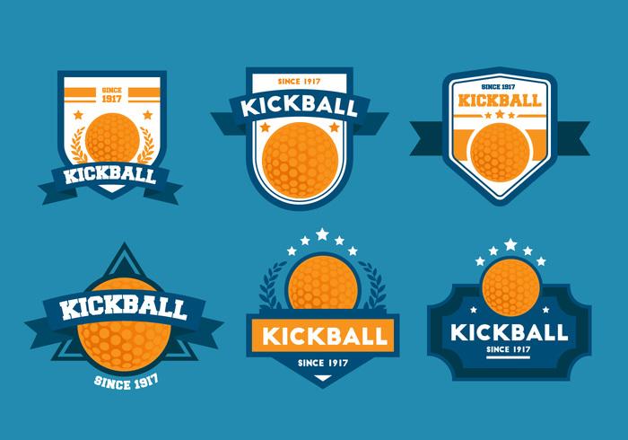 700x490 Free Vector Kickball Vector Badge Sets