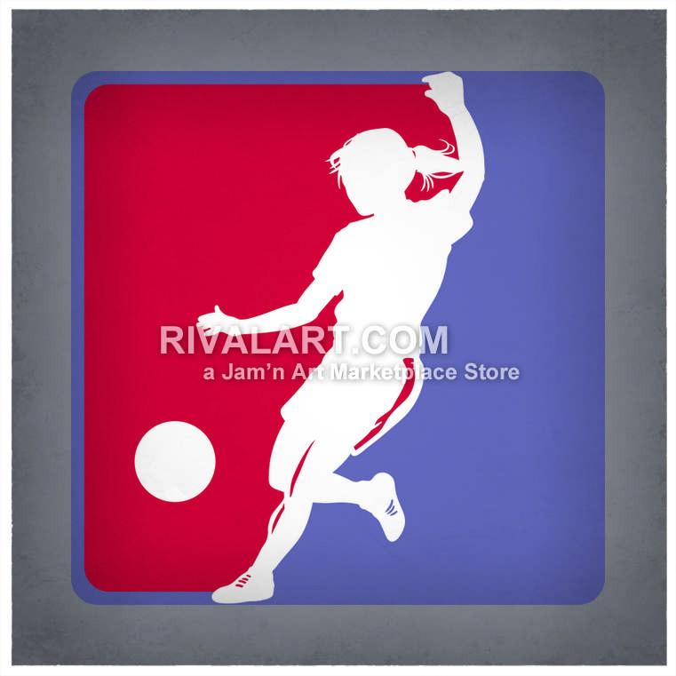 761x761 Girls Kickball Or Soccer Logo