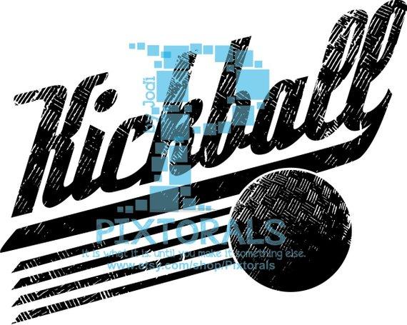 570x455 Kickball Logo Jpg Png And Eps Formats As Vector Kickball Etsy