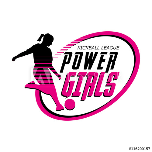 500x500 Logo Power Girls Kickball League