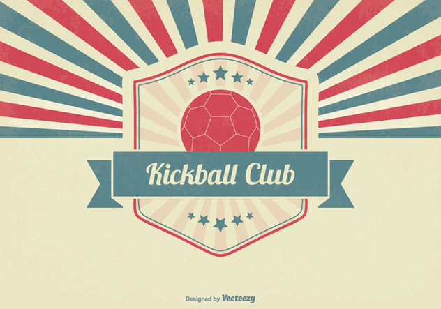 632x443 Retro Kickball Club Illustration Free Vector Download 356327